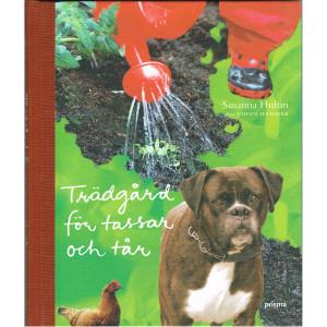 Hund i trädgård, djur i trädgård, barn i trädgård